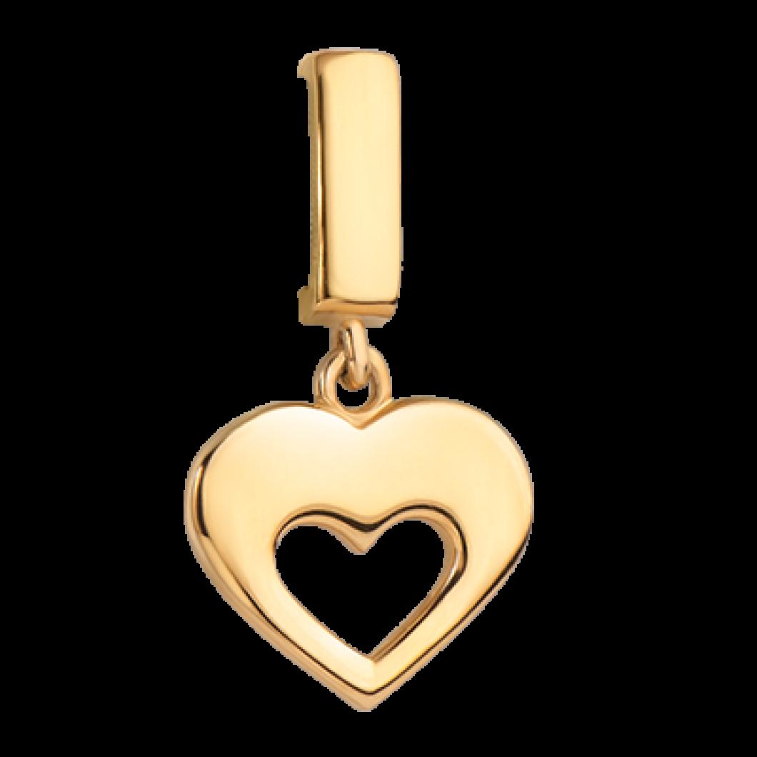 Кольцо «Сердце в середине»