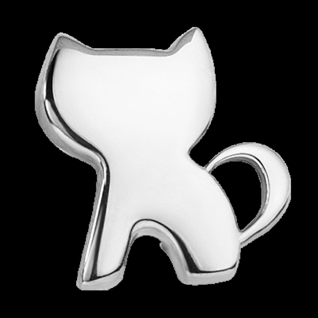 Браслет на ленте с шармиком «Котик»