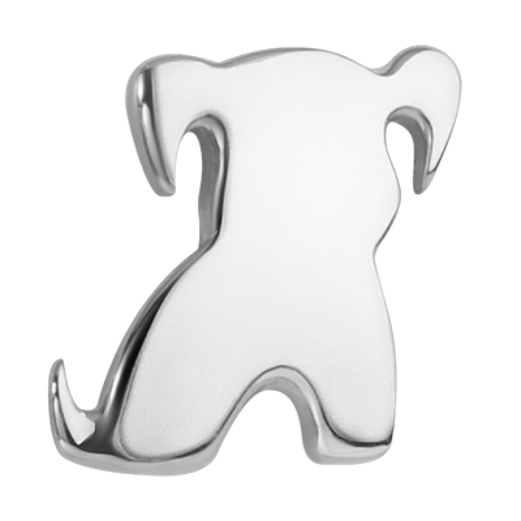 Браслет на ленте с шармиком «Песик»