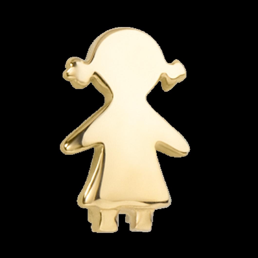 Браслет на ленте с шармиком «Девочка»