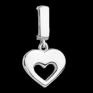 Шармик «Подвесное сердце в середине»
