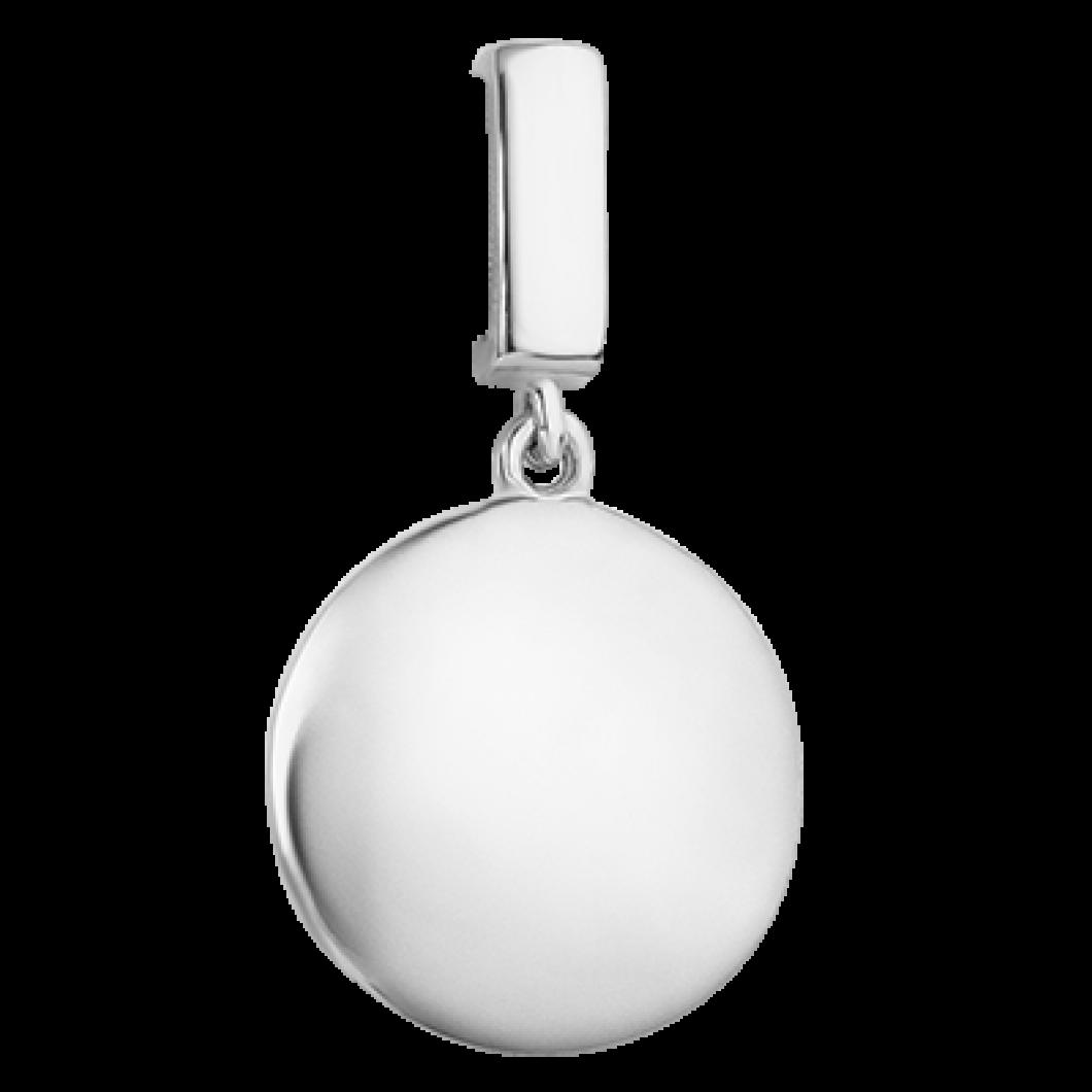 Браслет на ленте с шармиком «Подвесной круг»