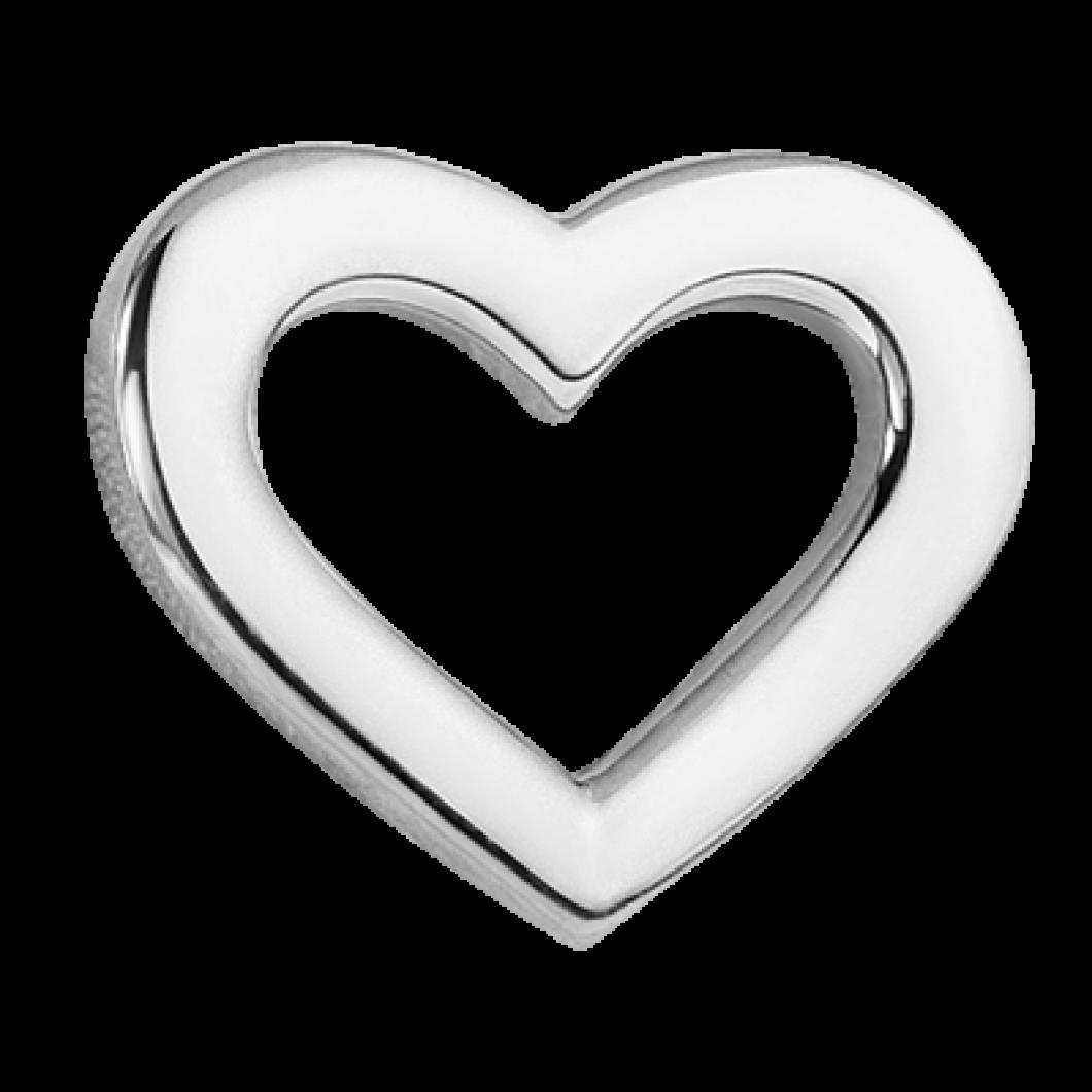 Браслет на ленте с шармиком «Контурное сердце»