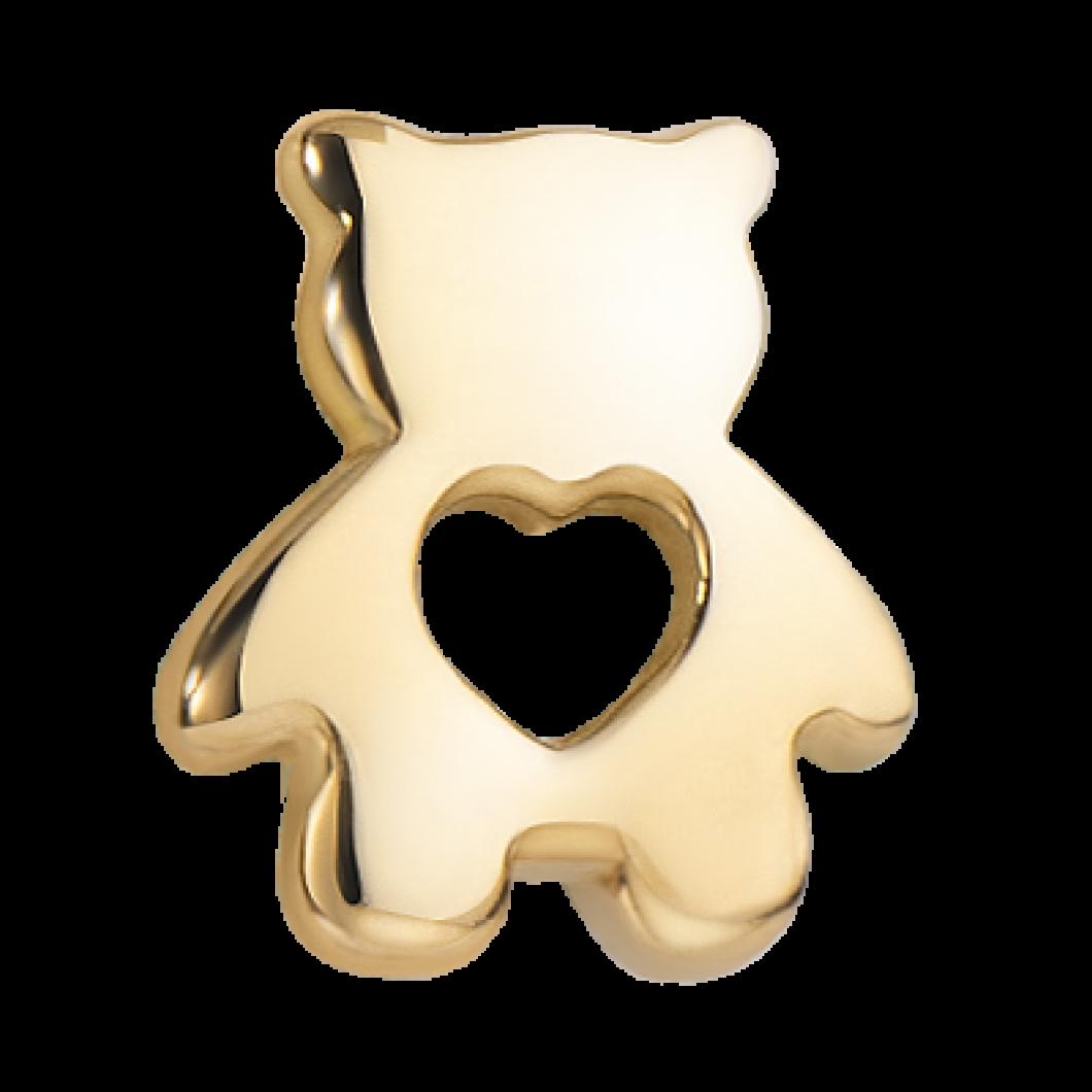 Браслет на ленте с шармиком «Медвежонок»