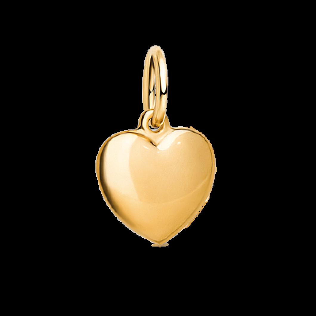 Комплект «Круг с шармиком сердце»