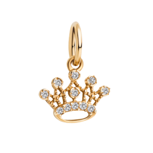 Шармик на петельке «Корона с камушками»