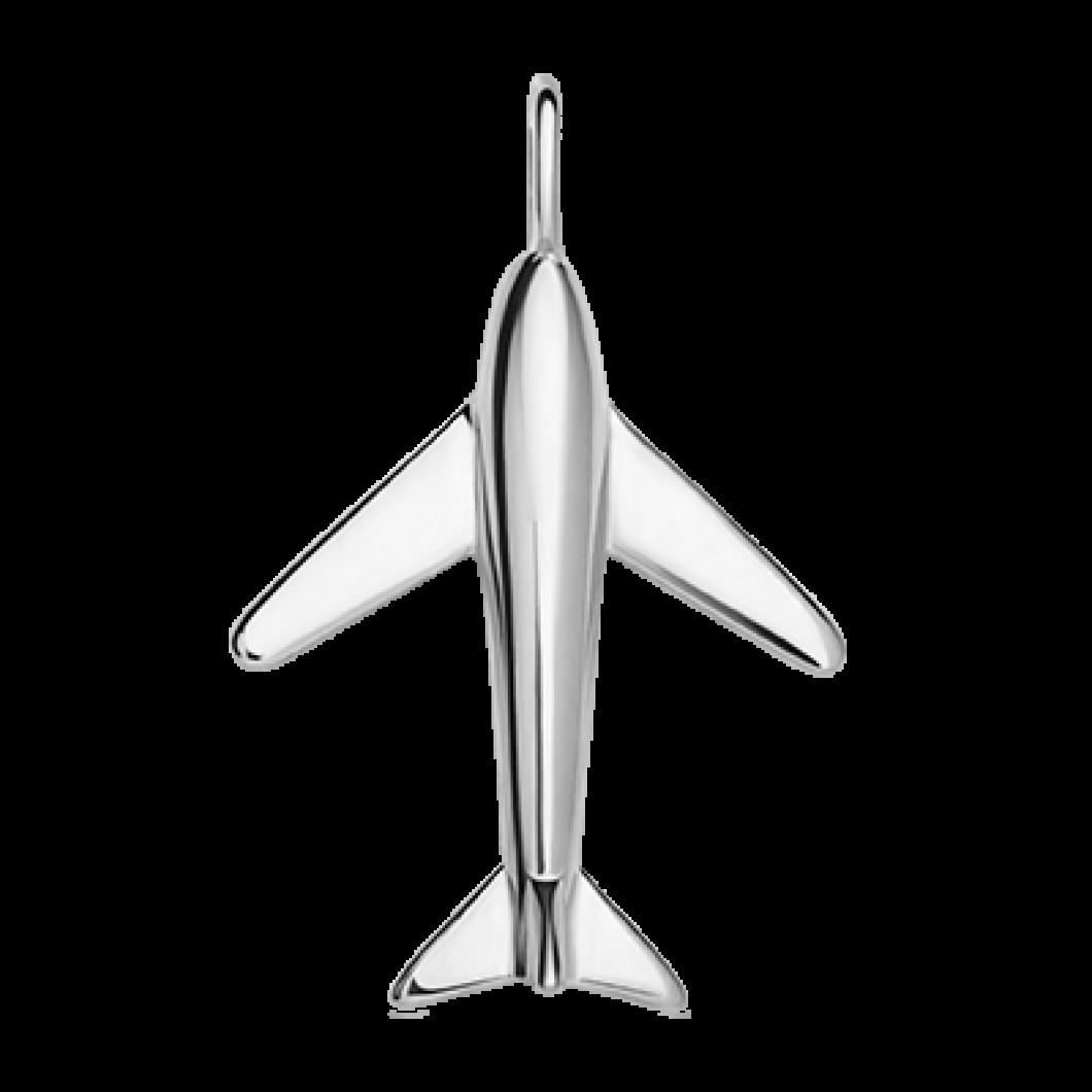 Подвеска «Самолетик» с шармиком «Звёздочка с камушками»