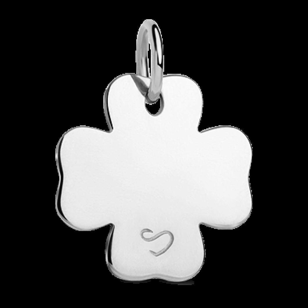 Подвеска «Клевер мини» с шармиком «Сердце с камушками»