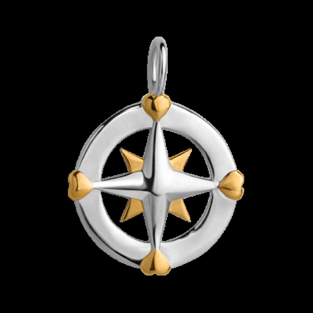 Подвеска «Компас» серебро 925