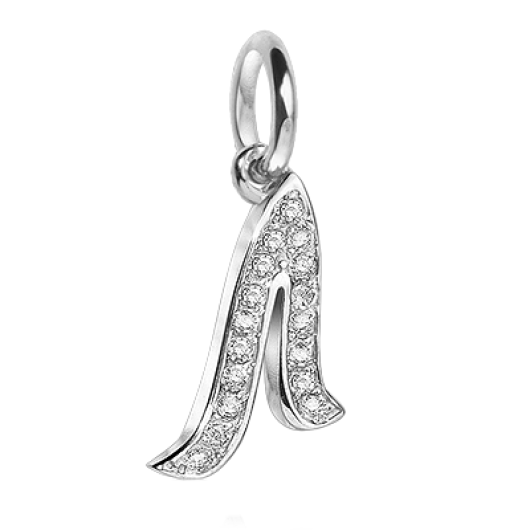 Браслет на кожаном тросике с подвеской «Буква Л»