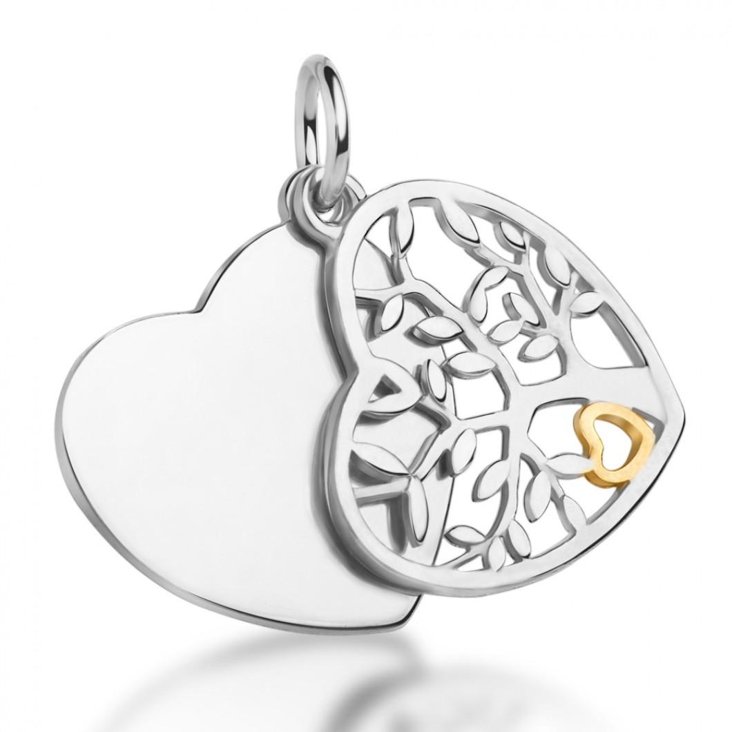 Подвеска «Семейное дерево» серебро 925