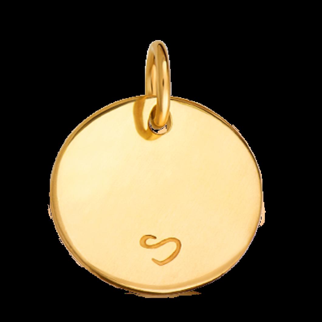 Подвеска «Круг» с шармиком на петельке «Звездочка» серебро 925
