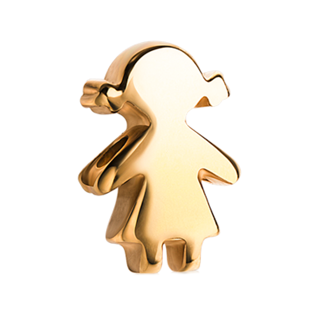 Браслет с шармиками «Девочка и звездочка с камушками»