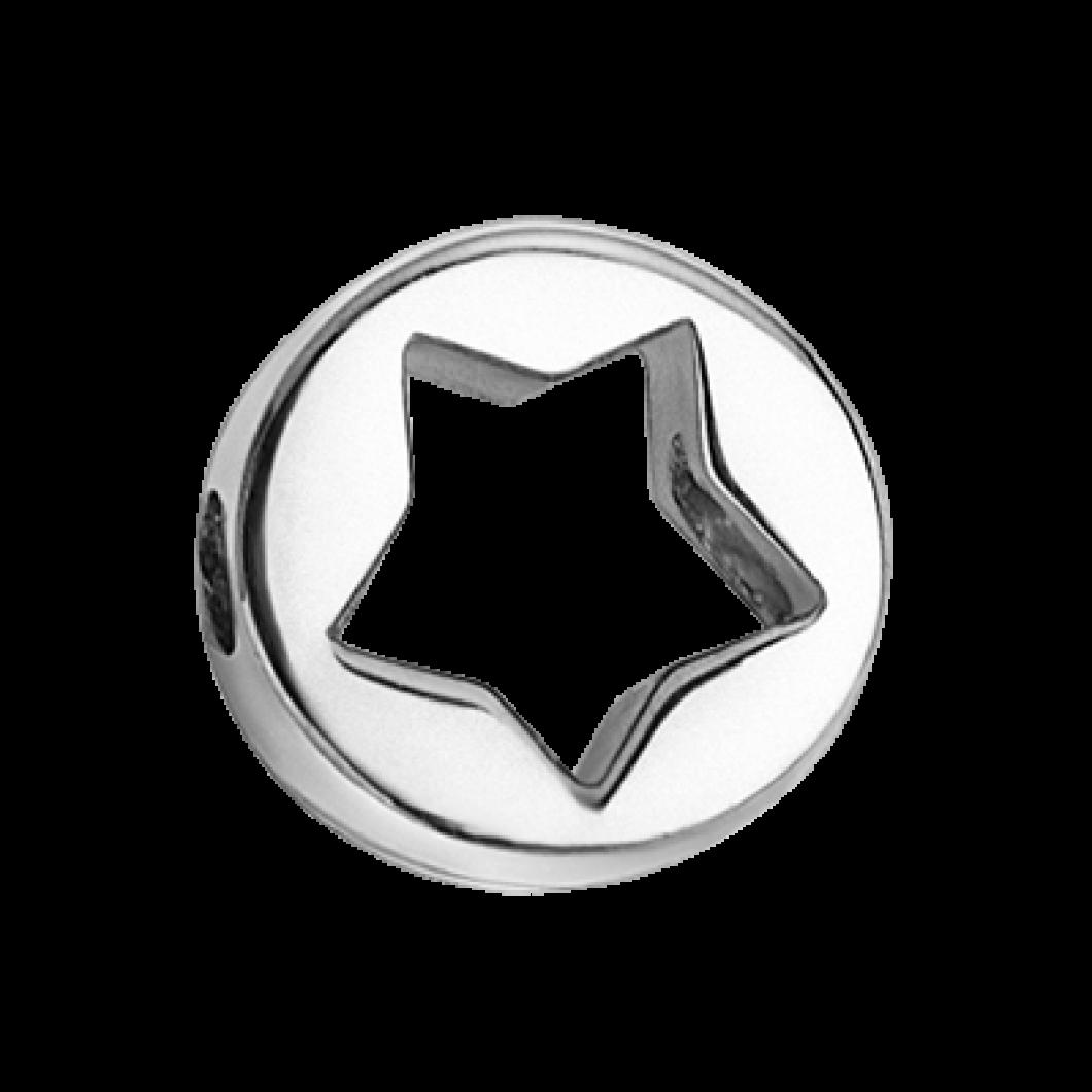 Браслет с шармиком «Звездочка круг»