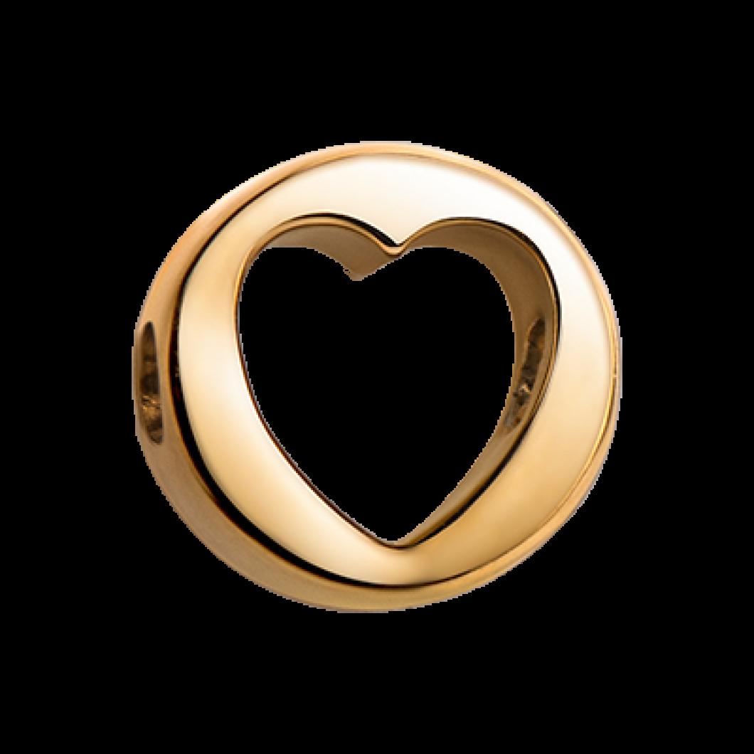 Браслет с шармиком «Сердце круг»