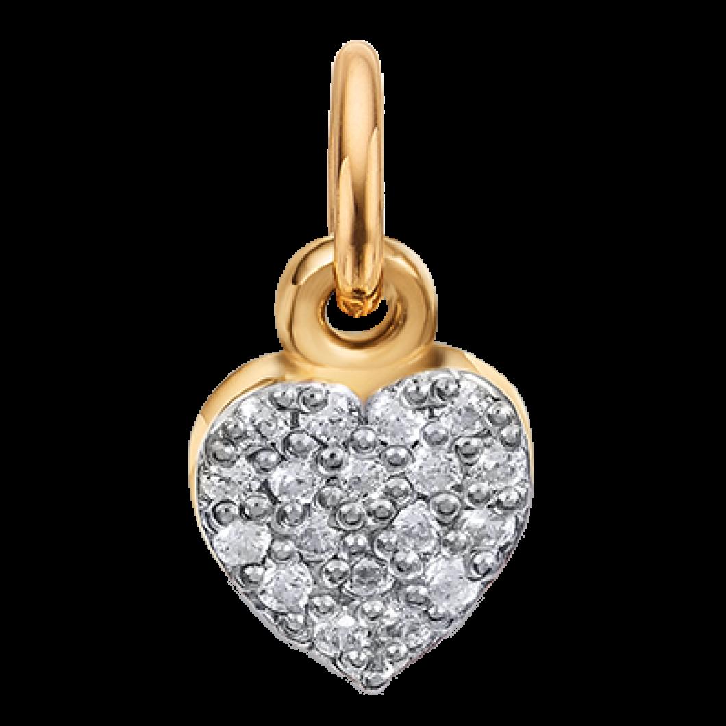 Подвеска «Мальчик с шармиком сердце с камушками» серебро 925