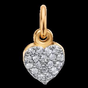Шармик на петельке «Сердце с камушками»