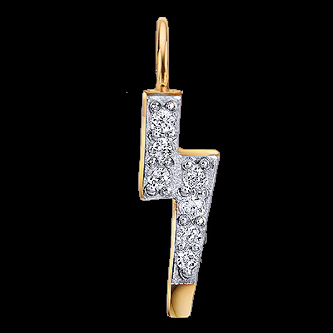 Браслет «Зірочка міні з шарміком блискавка з камінчиками»