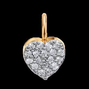 Шармик с ушком «Сердце с камушками»
