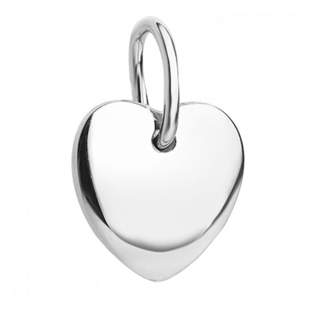 Набор колец из бусин мини c шармиком на петельке «Сердечко»