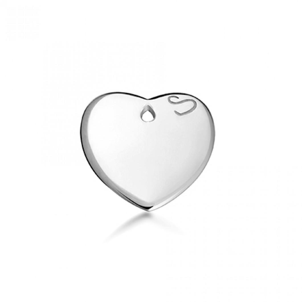 Браслет-кафф «Meridian» с подвеской «Сердце мини»