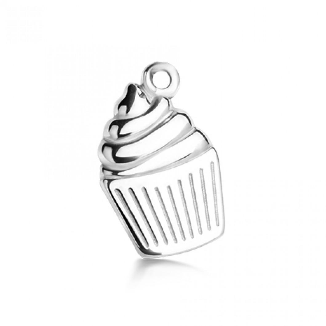 Подвеска «Кексик» серебро 925
