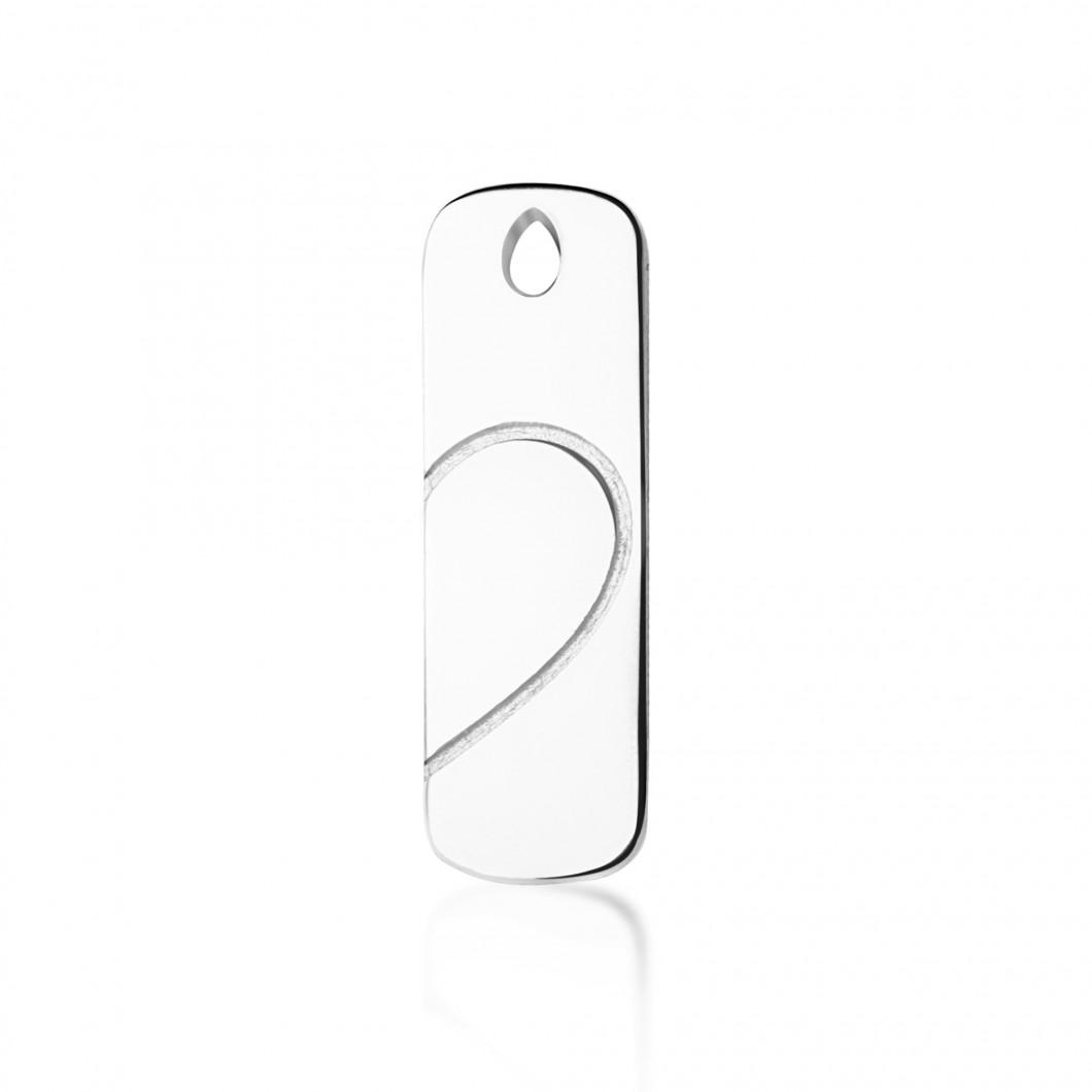 Парные кулоны «Половинки сердца» серебро 925