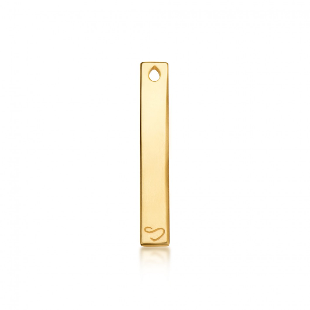 Кулон вертикальный с шармиком «Корона с камушками» серебро 925