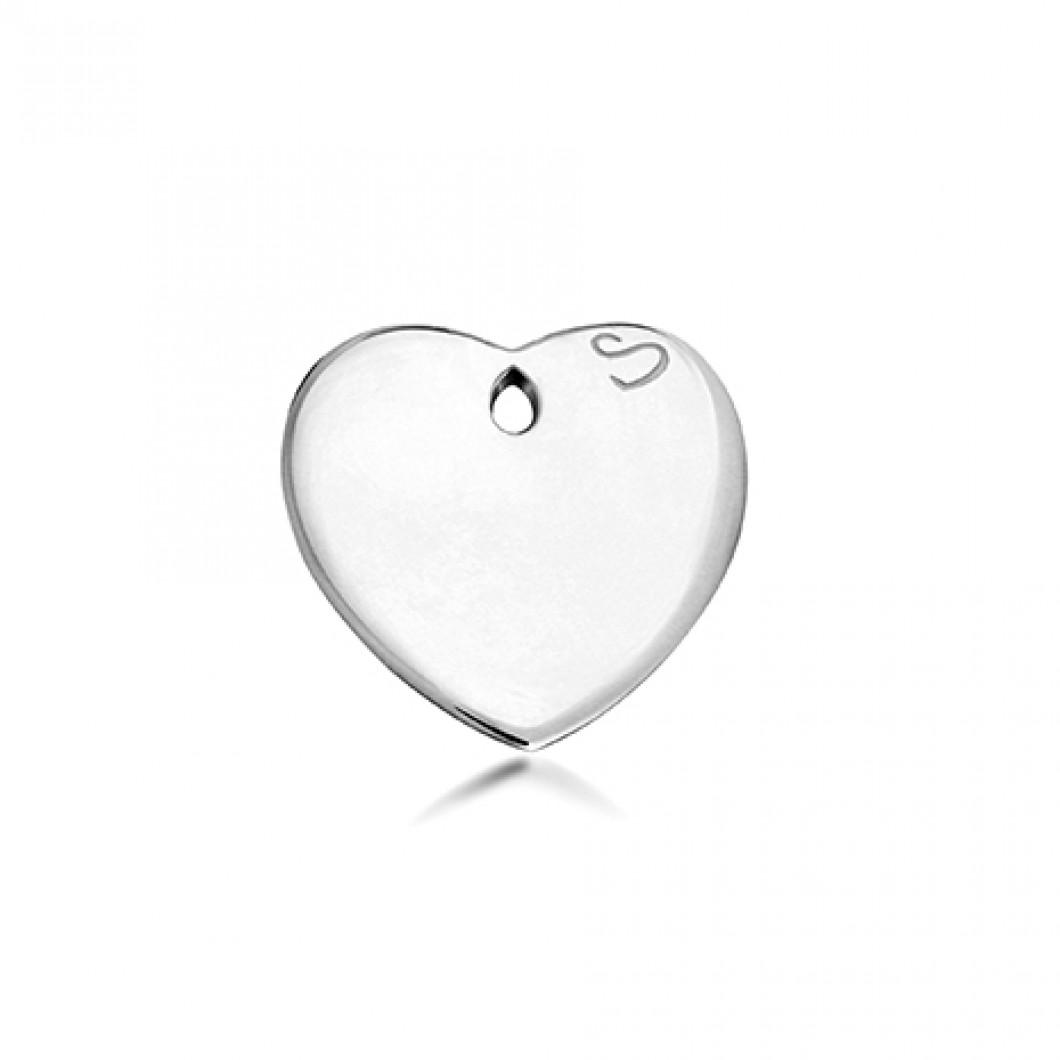 Браслет-кафф «Meridian» с подвеской «Сердце»