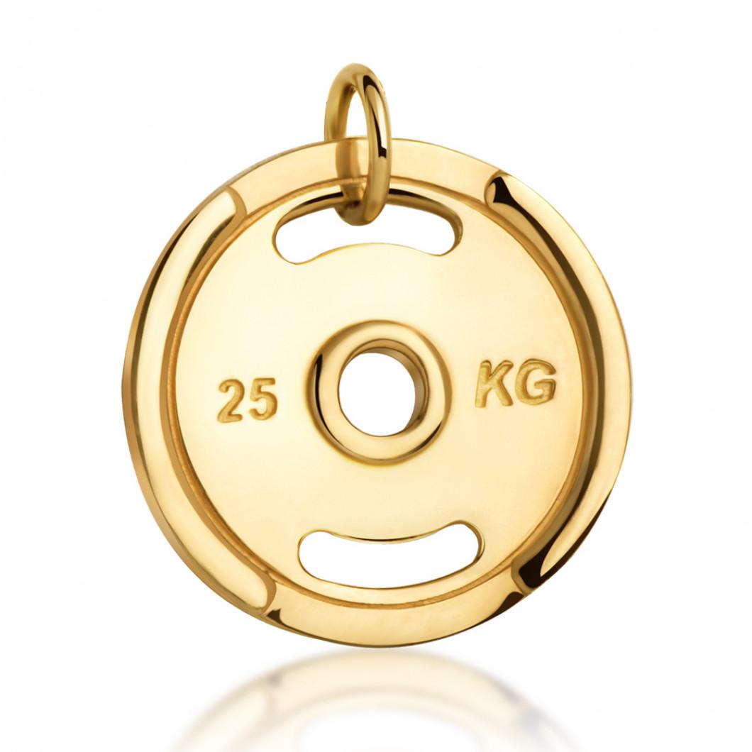 Фитнес кулон «Тренировочный диск» с биркой серебро 925
