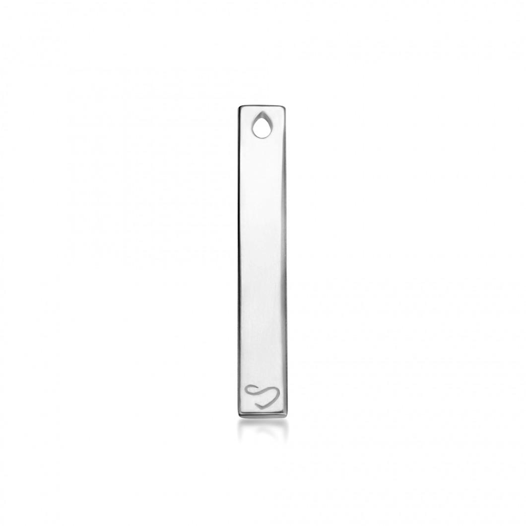 Кулон вертикальный с шармиком «Ажурный крестик» серебро 925