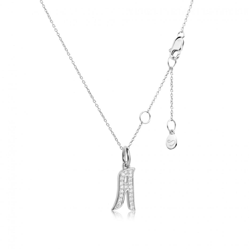 Подвеска буква «А» серебро 925