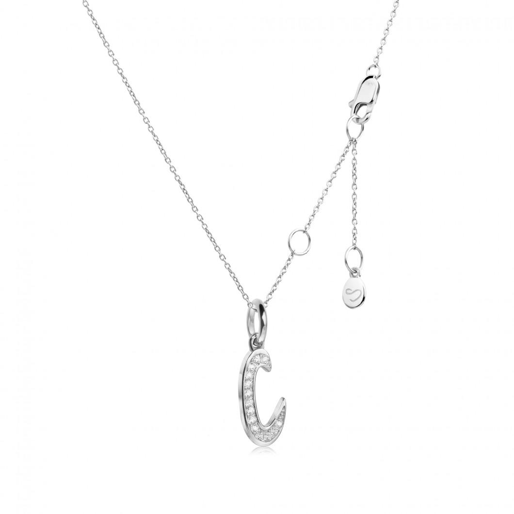 Подвеска буква «С» серебро 925