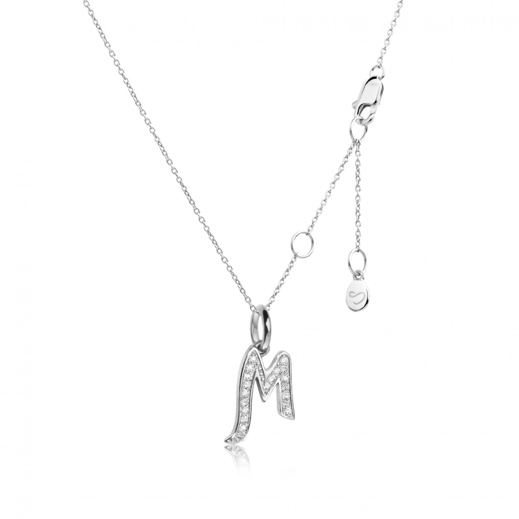 Подвеска буква «М» серебро 925