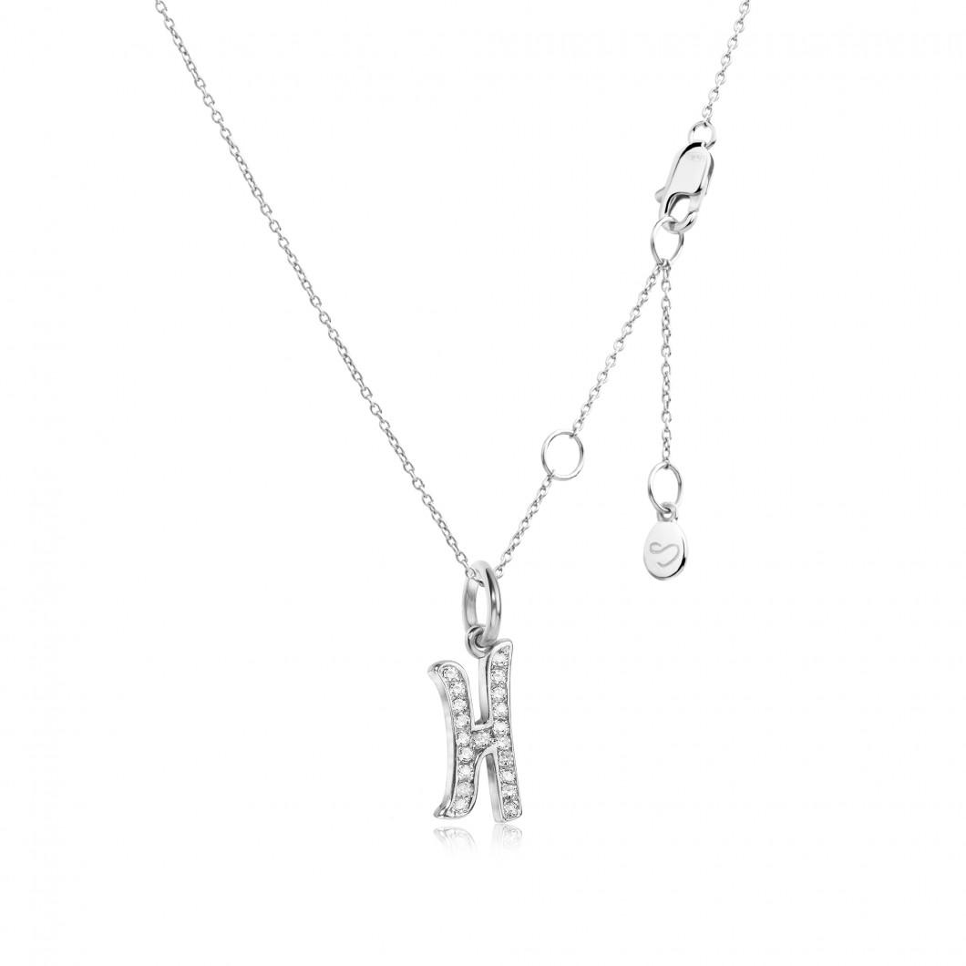 Подвеска буква «Н» серебро 925