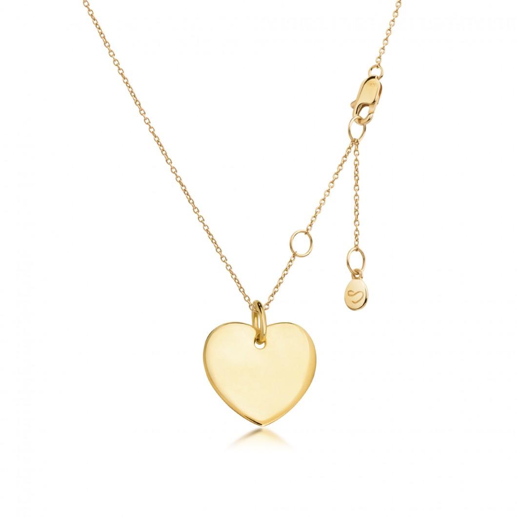 Подвеска «Большое сердце» серебро 925