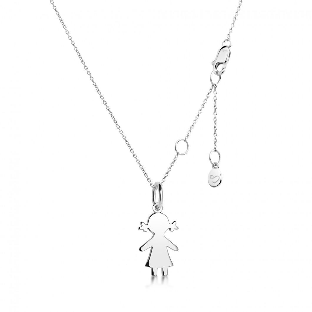 Подвеска «Девочка» серебро 925