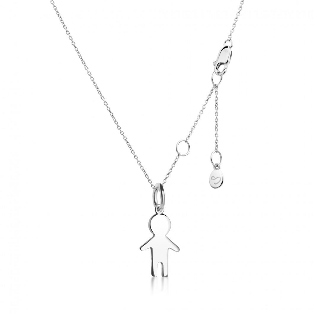 Подвеска «Мальчик» серебро 925