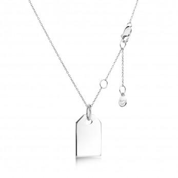 Подвеска «Маленький жетон» серебро 925
