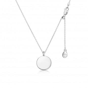 Подвеска «Диск с петелькой» серебро 925