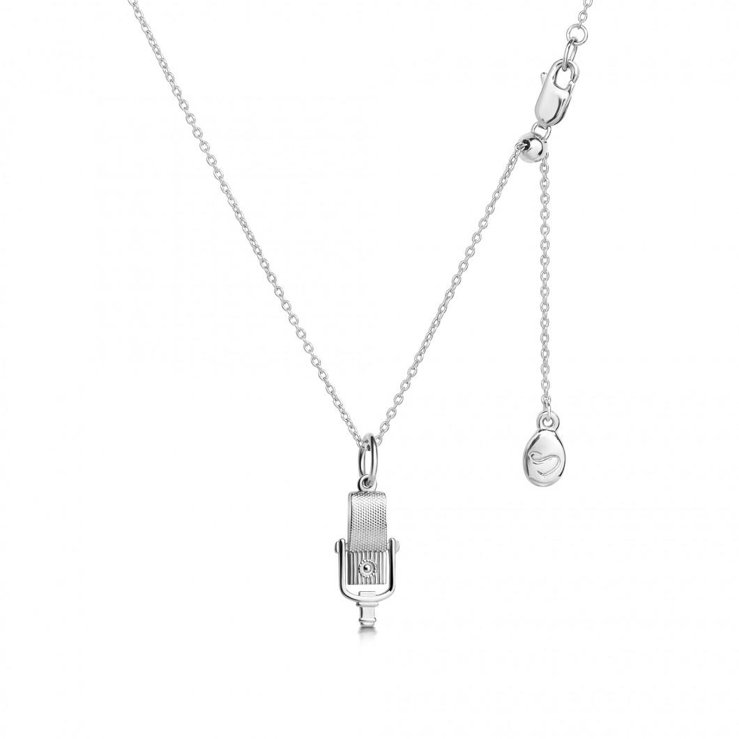 Кулон «Микрофон» серебро 925