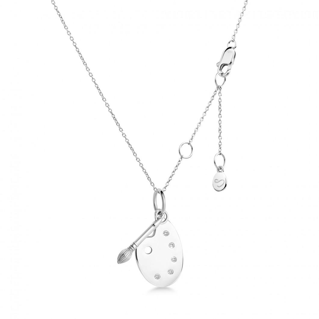 Подвеска «Палитра» серебро 925