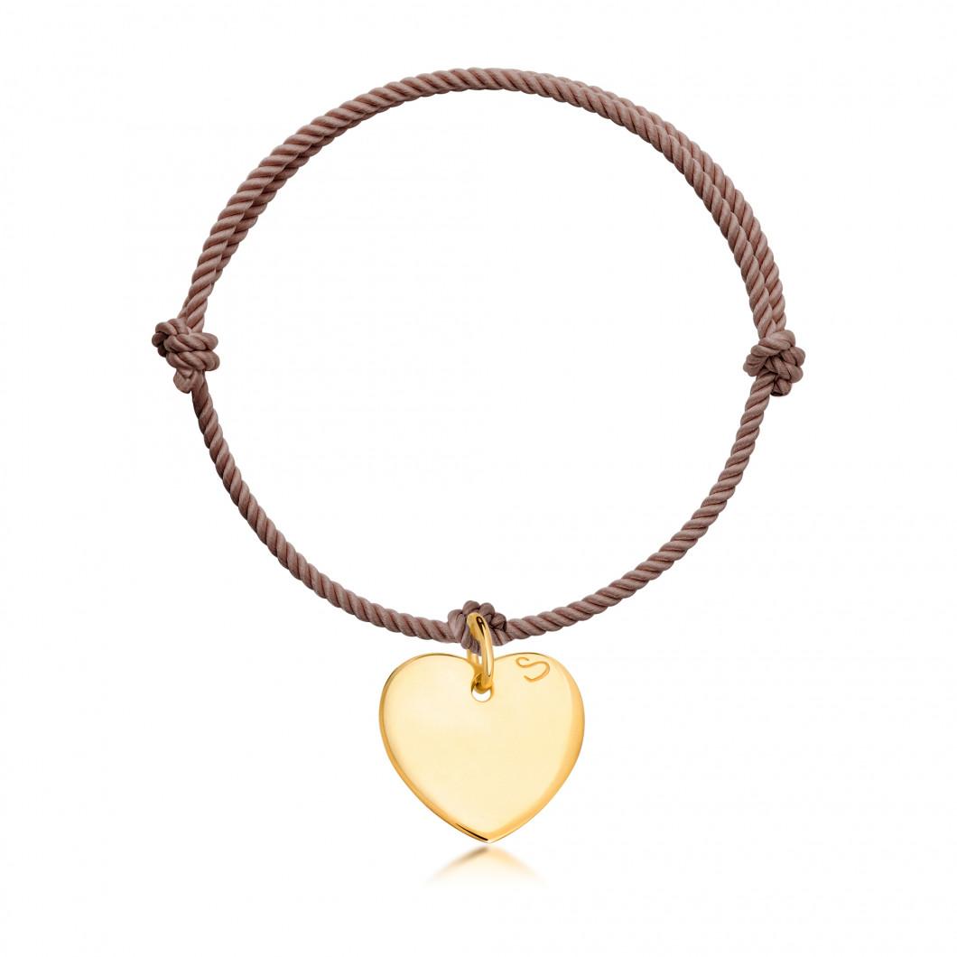 Браслет с подвеской «Сердце»