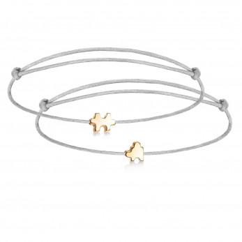 Парные браслеты с шармиками в виде пазлов