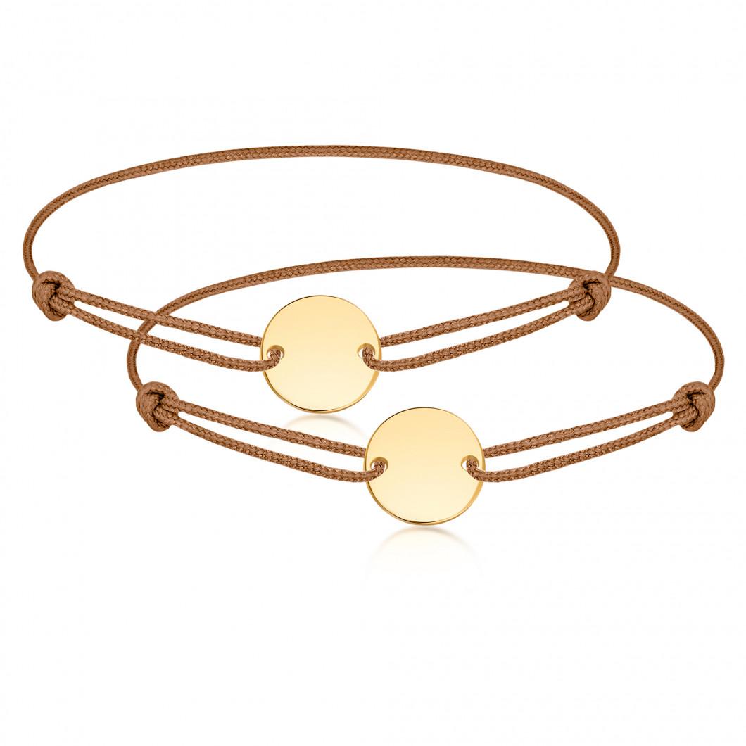 Парные браслеты «Мини круг на ниточке»