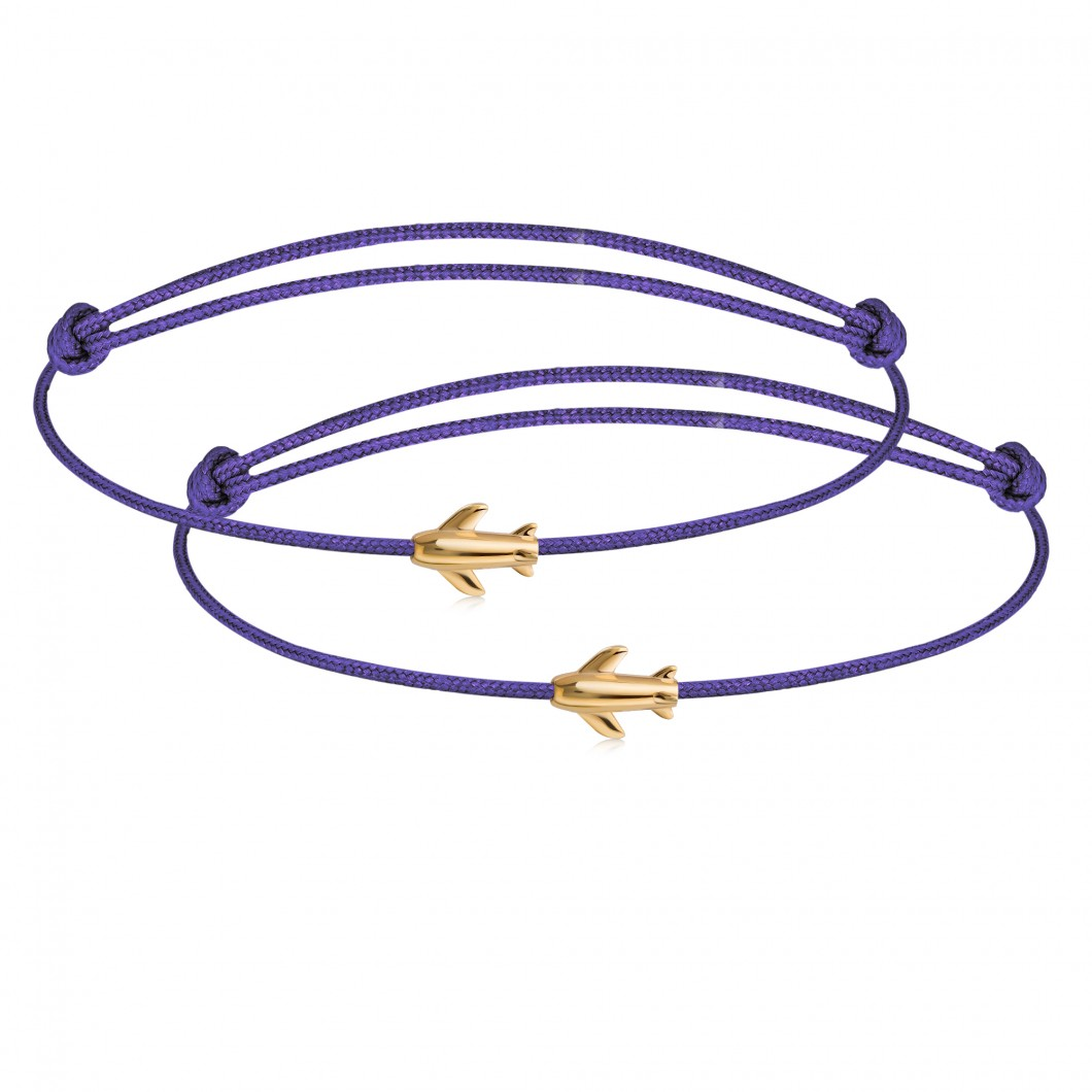 Парные браслеты с шармиком «Самолет»