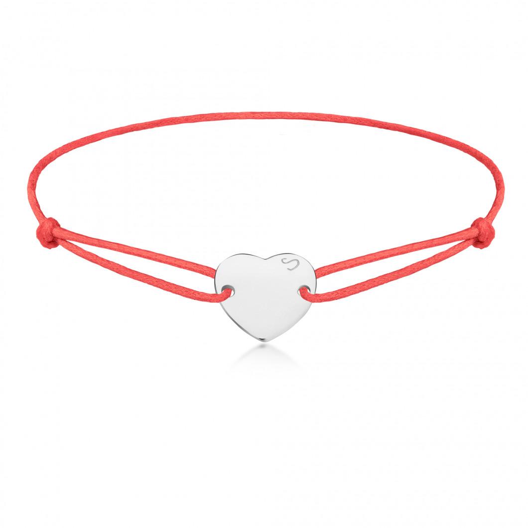 Браслет «Сердце пуговка»