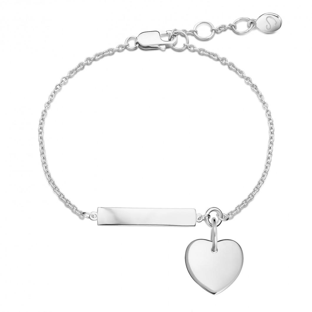 Браслет «Для важных дат» на цепочке с подвеской «Сердце мини»