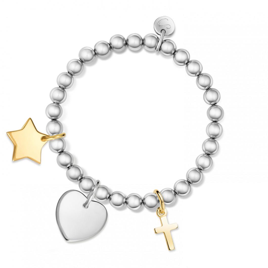 Браслет из бусин комплект «Звезда мини», «Сердце мини», «Крестик»
