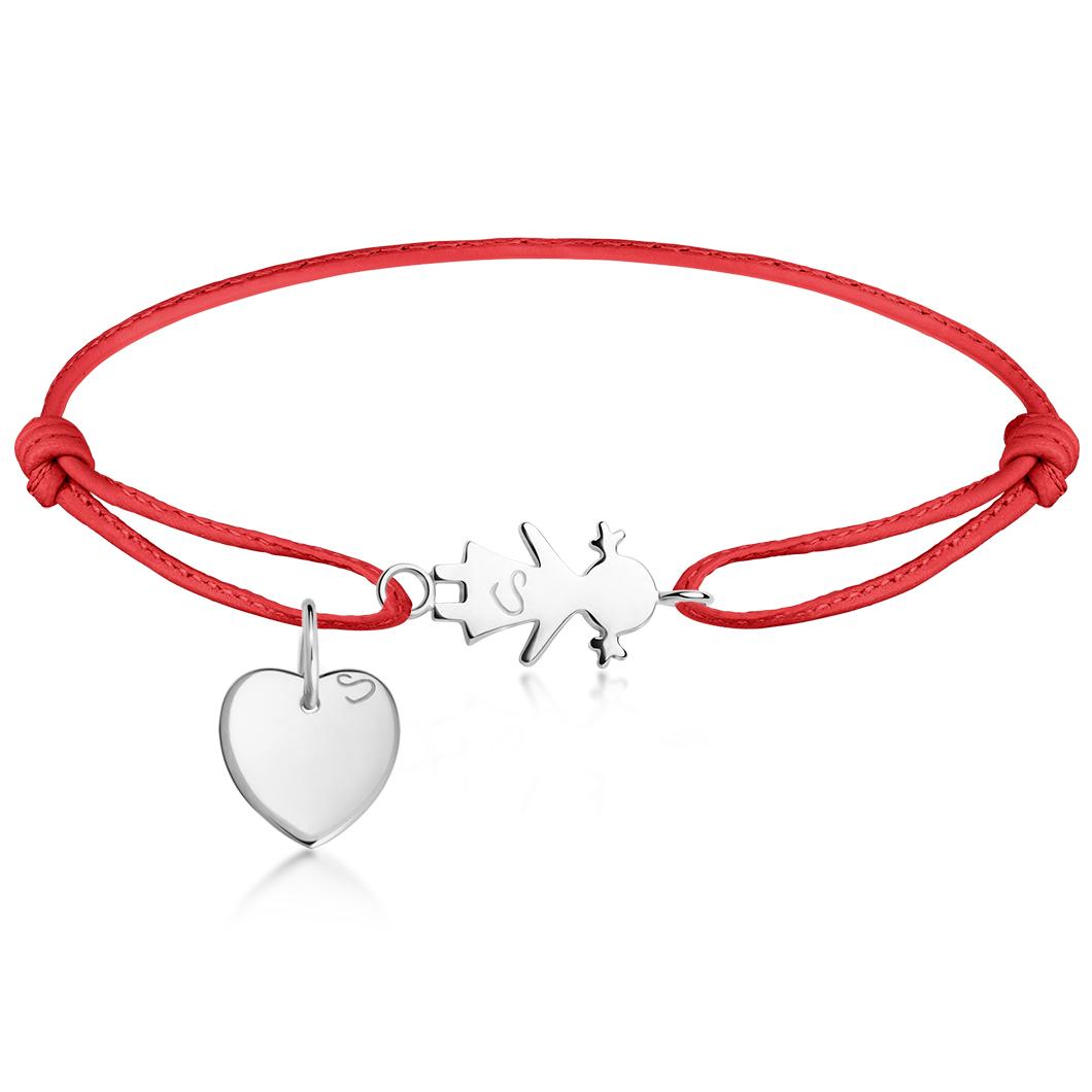 Браслет «Девочка» с петелькой и «Сердце мини»